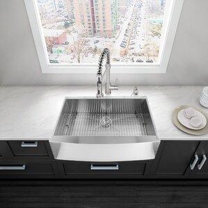 VIGO 36 inch Farmhouse Apron 16 Gauge Stainless Steel Kitchen Sink