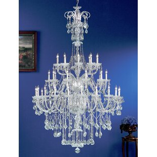 Classic Lighting Prague 40-Light Candle Style Chandelier