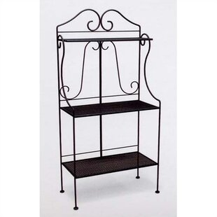Classic Wrought Iron Baker's Rack by..