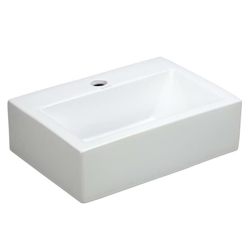 "Bathroom Sinks Porcelain elanti porcelain 17"" wall mount bathroom sink & reviews | wayfair"