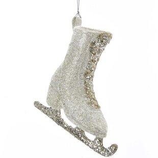 glitter ice skate shaped ornament - Ice Skating Christmas Ornaments
