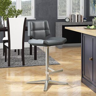 Patchin Adjustable Height Swivel Bar Stool Brayden Studio