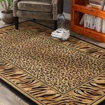 Wildlife Safari Animals Elephant Area Rugs Bedroom Carpet Living Room Floor Mat