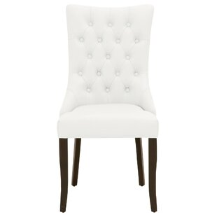 Crandell Genuine Leather Upholstered Dining Chair (Set of 2)