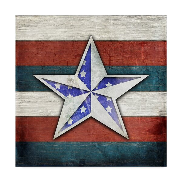 'American Freedom Star' Print on Wrapped Canvas