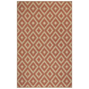 Corr Nested Diamond Red/Ivory Indoor/Outdoor Area Rug