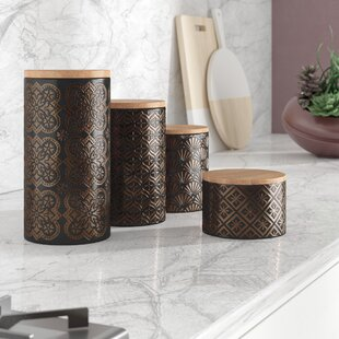 4 Piece Kitchen Canister Set (Set Of 4) by Mercer41 Coupon
