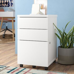 Symple Stuff 3-Drawer Mobile Vertical Filing Cabinet