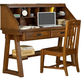 Lark Manor Montcerf Writing Desk with Hutch