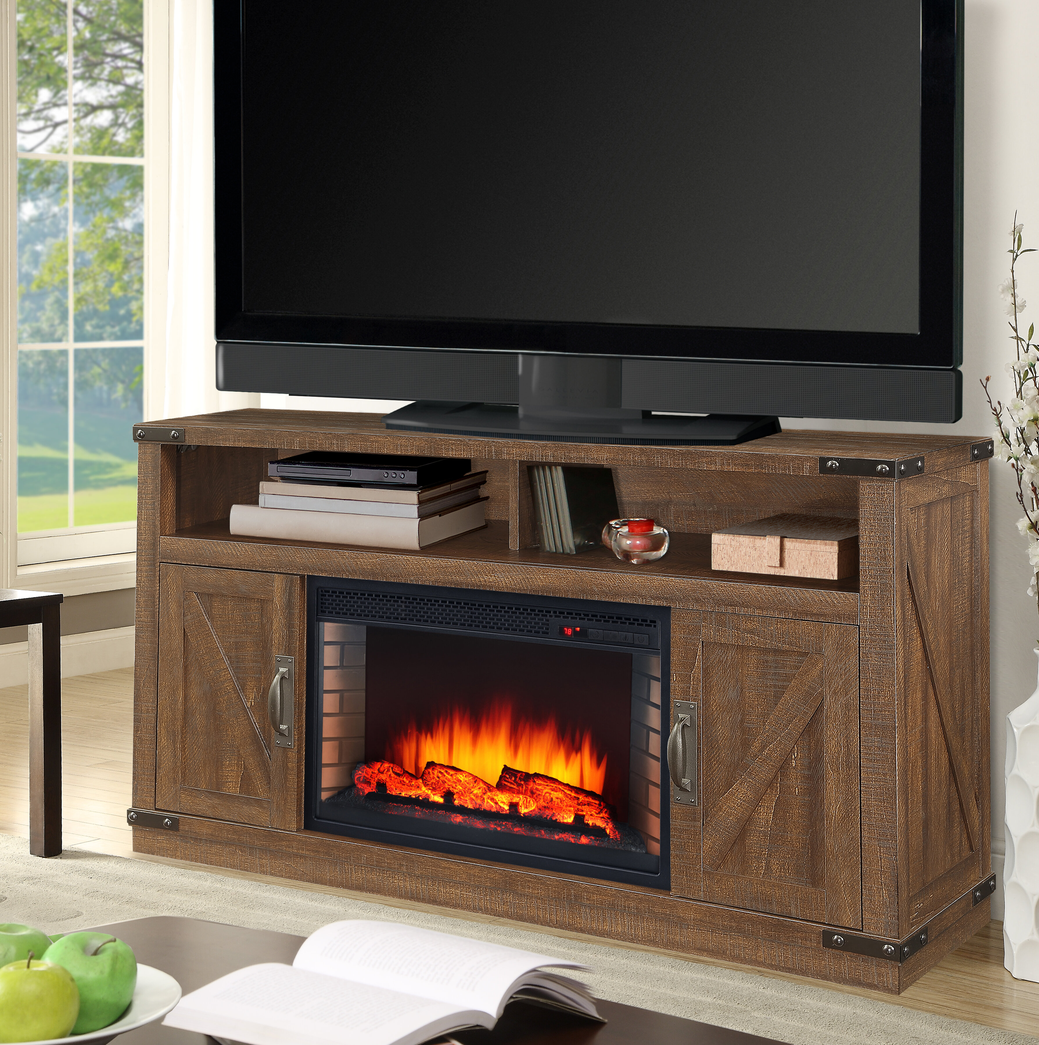 Muskoka Aberfoyle Tv Stand For Tvs Up To 48 With Electric Fireplace