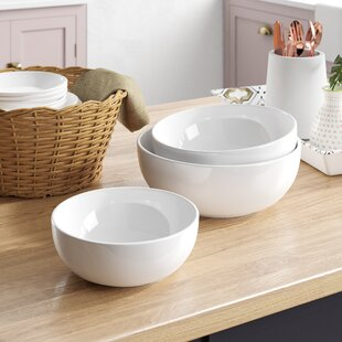 Olmead 3 Piece Porcelain Serving Bowl Set