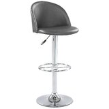 Cayman Swivel Adjustable Height Bar Stool by Latitude Run