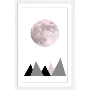 'Pink Moon' by KatarinaSnygg Framed Painting Print