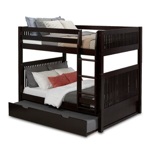 Oakwood Full Over Full Bunk Bed with Twin Trundle Mission Headboard