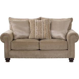 Schuck Chenille 71 Rolled Arm Loveseat