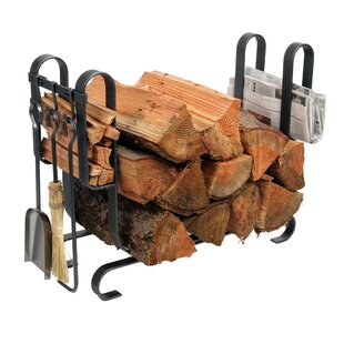 USA Handcrafted Lodge Log Rack With Tools By Enclume