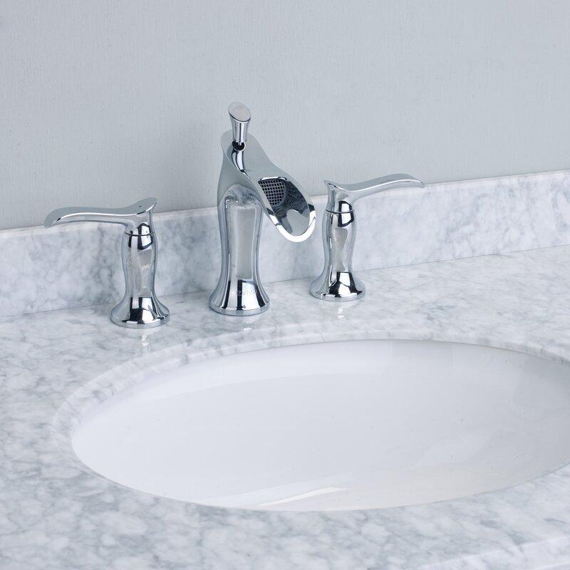 Eviva Swan® Deck Mount Widespread Waterfall Bathroom Faucet ...