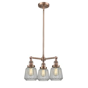 Vinson 3-Light Shaded Chandelier by Latitude Run