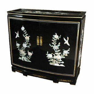Camille Floral Design Slant Front Accent Cabinet by World Menagerie