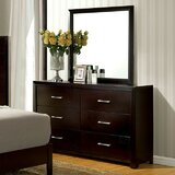 Kinzie 6 Drawer Double Dresser with Mirror by Wrought Studio™