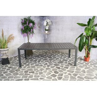 Mumtaz Aluminium Dining Table By Sol 72 Outdoor