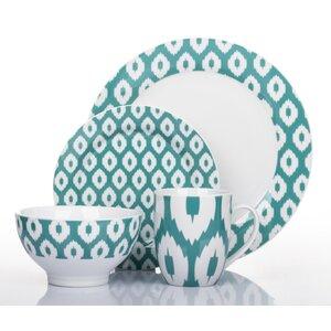 Ikat 16 Pieces Dinnerware Set