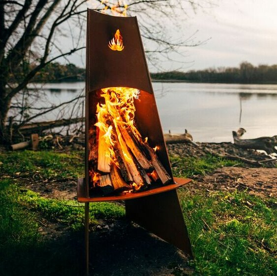 Fire Pit Art Vesuvious Steel Wood Burning Fire Pit Wayfair