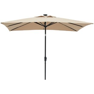 Latitude Run Irene 9' X 7' Rectangular Lighted Umbrella