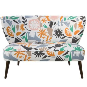 Back Bay Cutout Floral Dusty Armless Loveseat by Ivy Bronx
