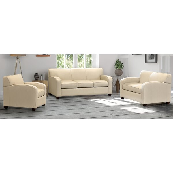 Brilliant Full Grain Leather Sofa Set Wayfair Caraccident5 Cool Chair Designs And Ideas Caraccident5Info