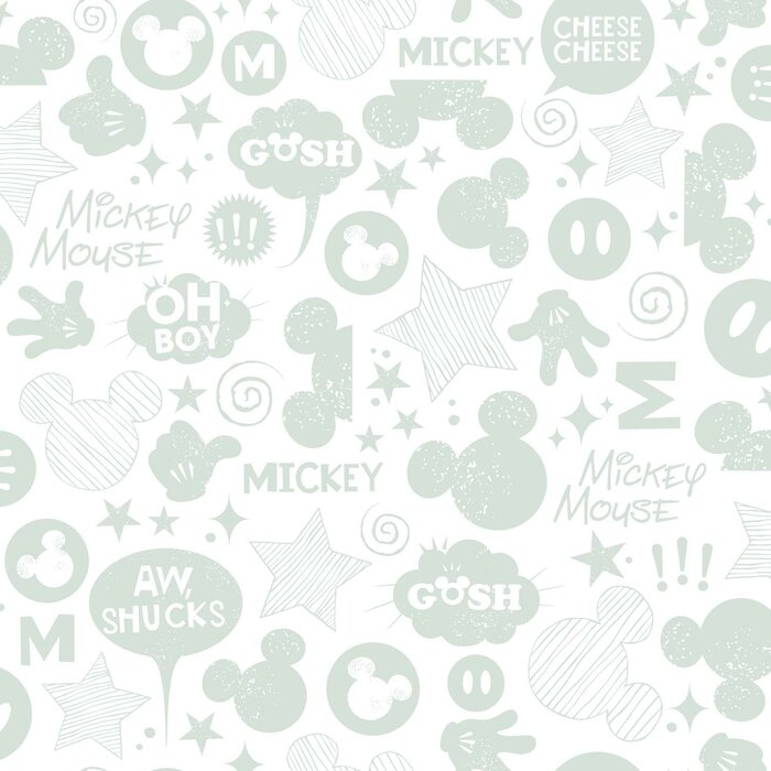 Mickey Mouse Icons Peel And Stick Wallpaper