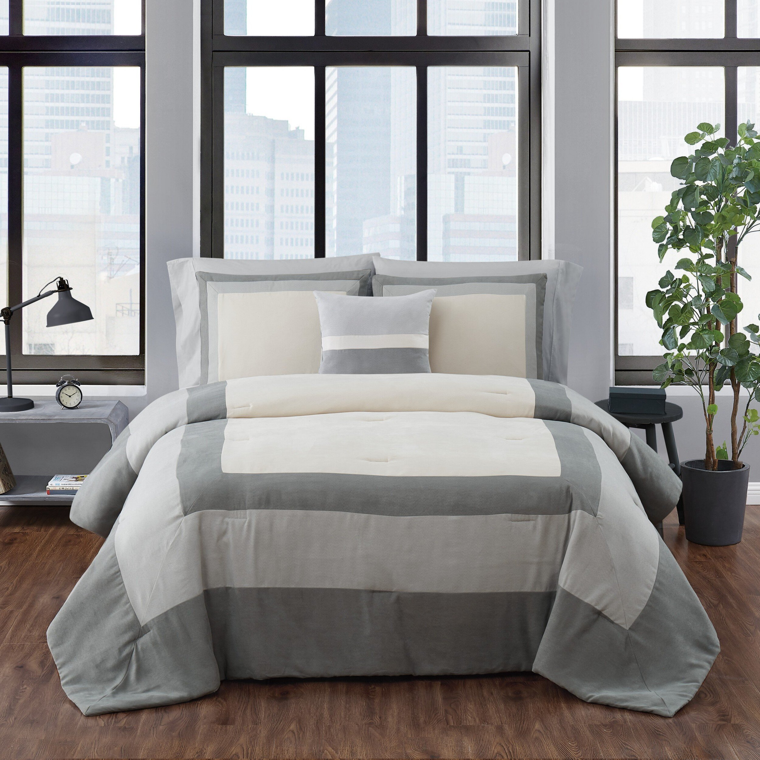 London Fog Dartford Microsuede Comforter Set Reviews Wayfair