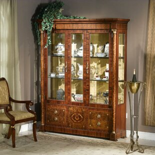 Prosperie Three Door Display Cabinet China Cabinet by Astoria Grand