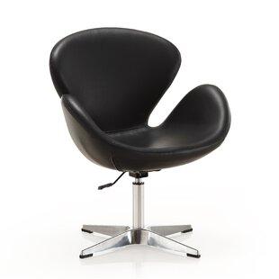 Estus Adjustable Swivel Barrel Chair by Orren Ellis