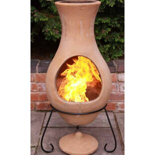 Steel Charcoal/Wood Burning Chiminea By Gardeco