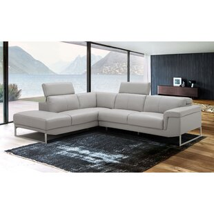 Baver Leather Sectional by Orren Ellis