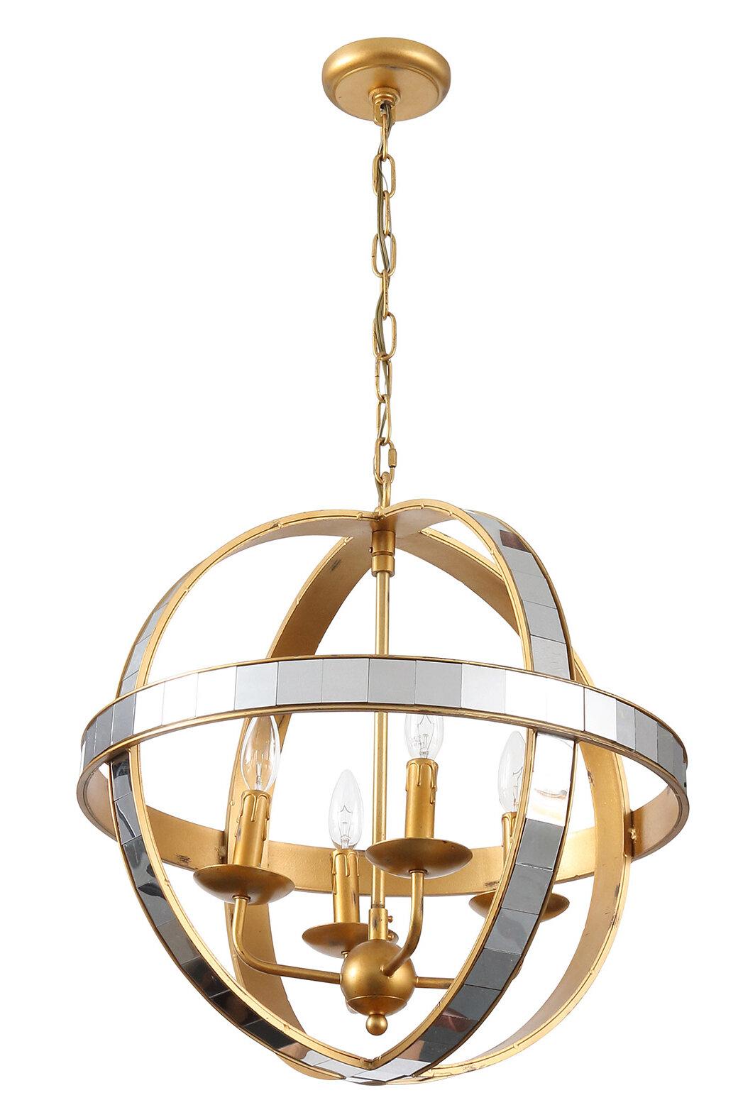 Picture of: Joseph Allen 4 Light Candle Style Globe Chandelier Wayfair