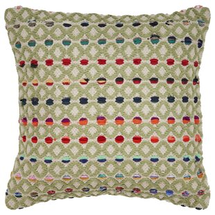 Roseann Colorful Dots Cotton Throw Pillow