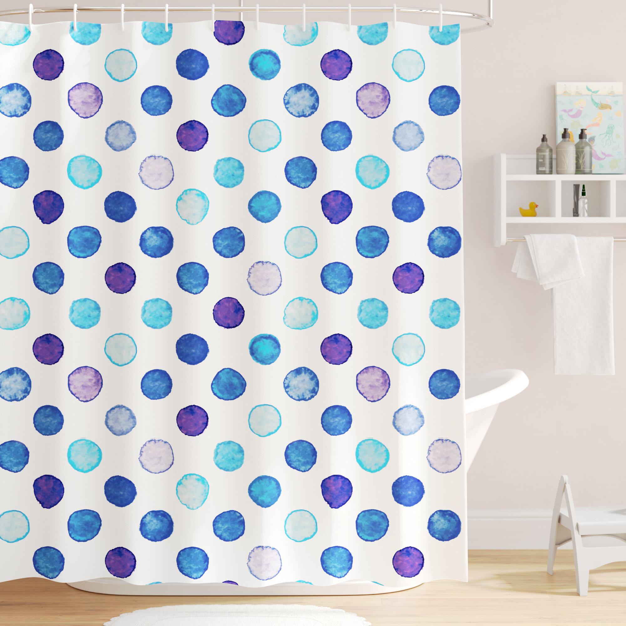 Viv Rae Bradford Vintage Polka Dots Shower Curtain