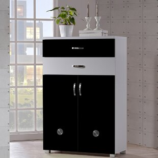 Spicer 12-Pair Shoe Storage Cabinet by Ebern Designs
