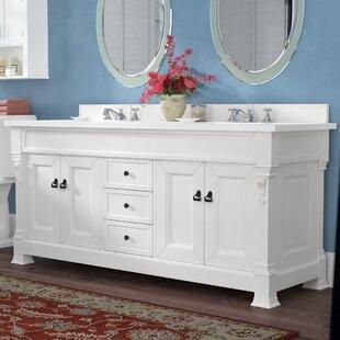 Bedrock 72 Double Antique Black Bathroom Vanity Set ByDarby Home Co