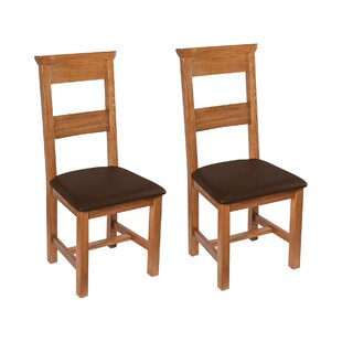 Demoss Solid Wood Dining Chair (Set Of 2) By Union Rustic
