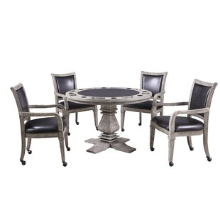 48 Glynda Poker Table with Chairs