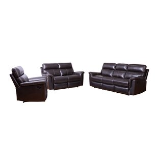 Compare Paden 3 Piece Leather Reclining Living Room Set (Set of 3) by Red Barrel Studio Reviews (2019) & Buyer's Guide