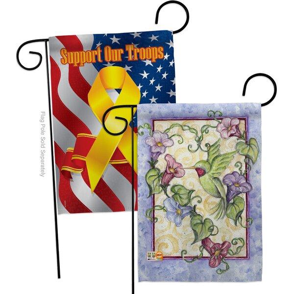 Breeze Decor Hummingbird With Trumpet Flowers 2 Sided Polyester 19 X 13 In Garden Flag Wayfair