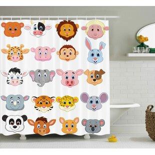 Gammons Animals Single Shower Curtain