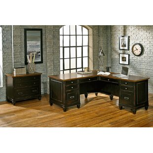 17 Stories Django 3 Piece L-Shaped Desk Office Suite