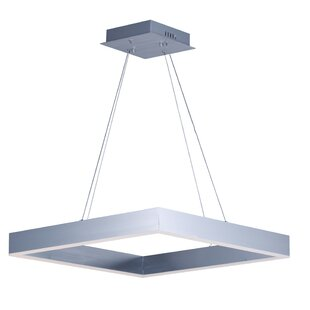 Acamar 1-Light LED Square/Rectangle Pendant by Orren Ellis