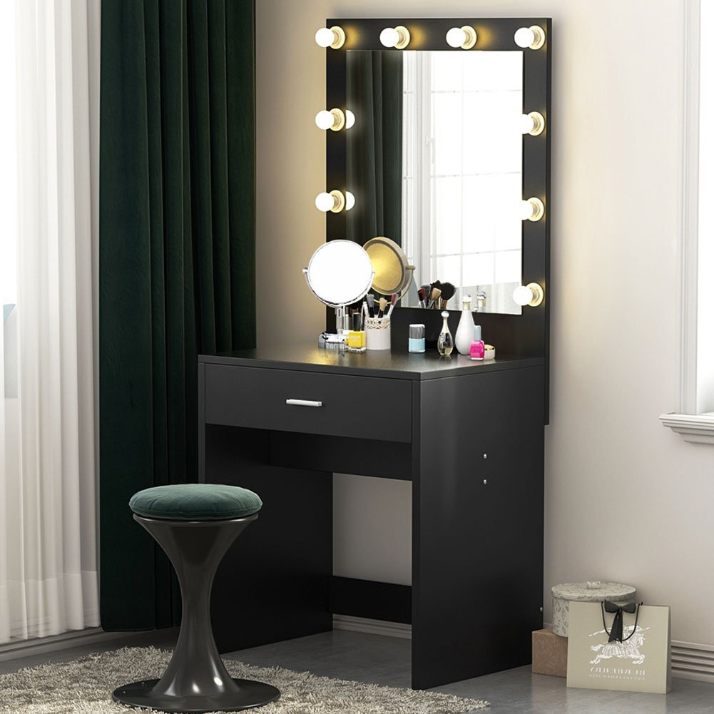 Makeup Mirror Desk With Lights Ashley Roll Top Desk