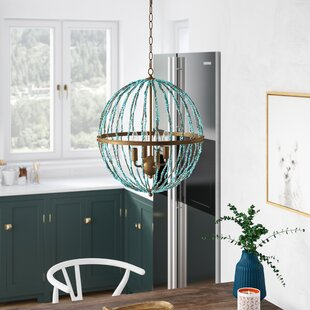 Bungalow Rose Rahman 4-Light Globe Chandelier